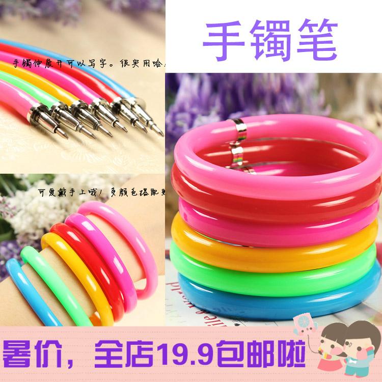 South Korean creative bangle bracelet pen ballpoint pen bracelet wrist bending magical gift pen cartoon pen sixty-one(China (Mainland))