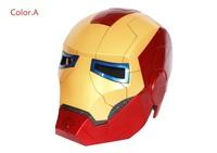 Free shipping! Free Shipping Iron Man Motorcycle Helmet Mask Tony Stark Mark 7 Cosplay Mask with LED Light  Action Figure IR005