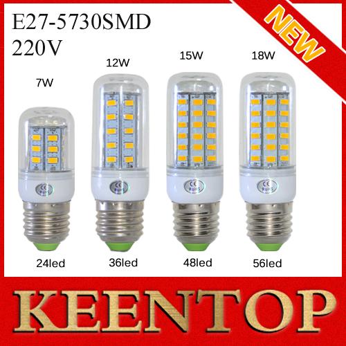 E27 SMD5730 LED Corn Lamps 24Led 36Led 48Led 56Led LED Bulb Light