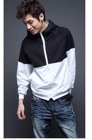 In the autumn of 2014 the new sports leisure color matching fashion clothing male fleece single male