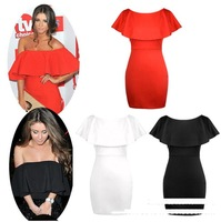 new 2014 Korean fashion women summer dress sweet sexy boat neck strapless flounced dress to wear fashion bag hip prom dress