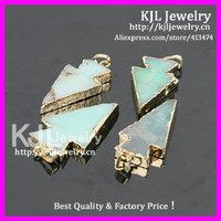 10pcs Wholesale Natural stone Australia Jade green color druzy Arrow shape pendant