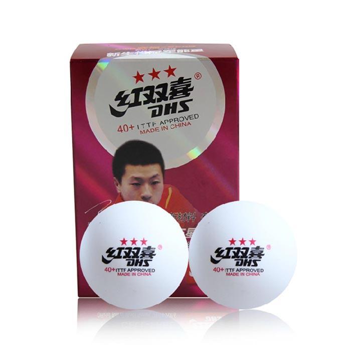 Free Shipping, 12x DHS 40+ (New Materials) 3-Star (3 Star, 3Star) White Table Tennis (Ping Pong) Balls(China (Mainland))