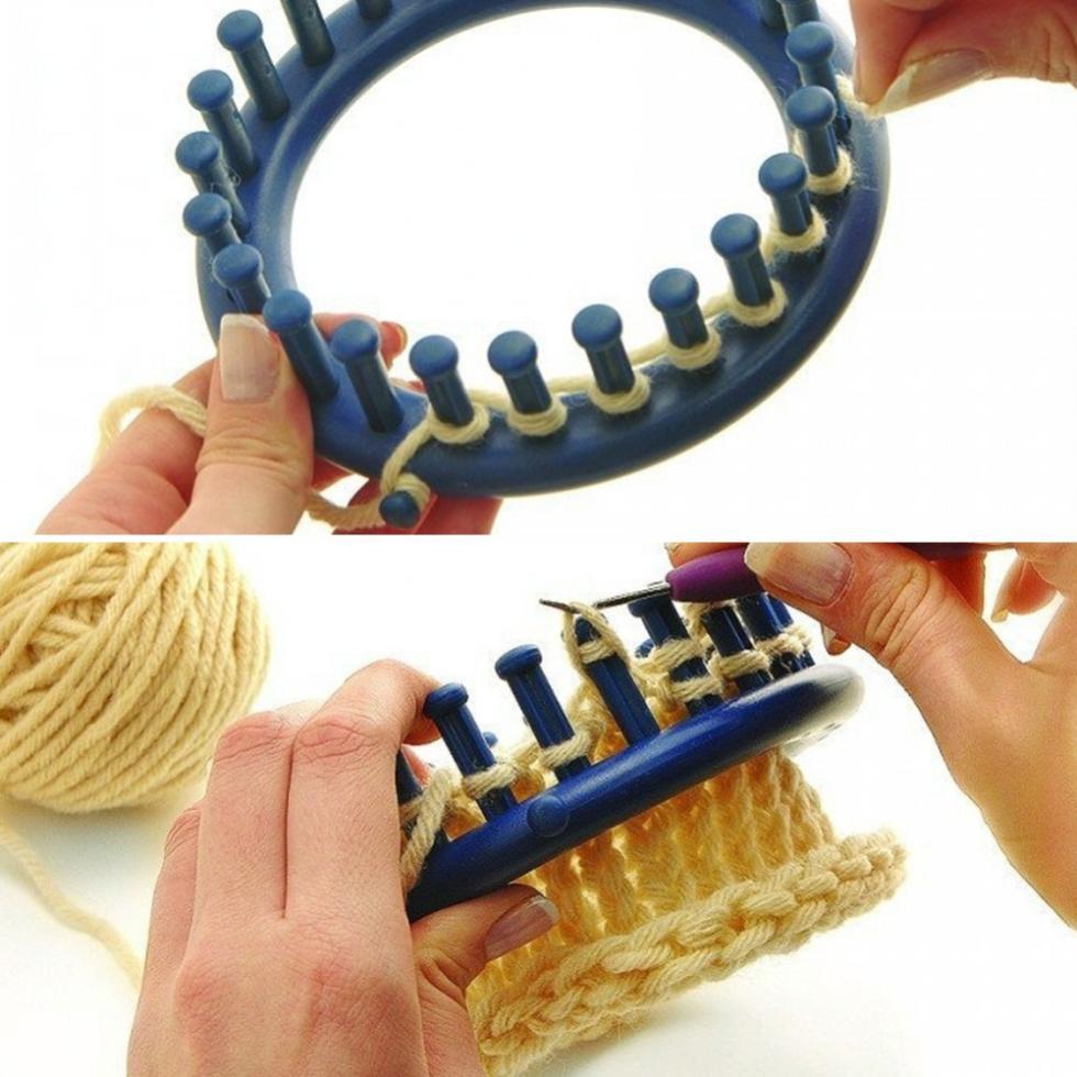 1 Set 4 Size Plastic Round Circle DIY Hat Yarn Knitter Knifty Knitting Knit Loom Free Shipping(China (Mainland))