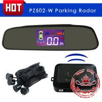 Professional Car Parking Sensor Reverse PZ502-W Backup Radar System with Backlight Display + 4 Sensors free shipping