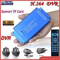 5-15v video viewer 4ch TF card car mobile dvr+4 pcs car camera