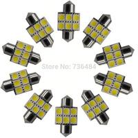 10PCS 6LED light bulbs per bulb Car white LED Dome Light Bulbs