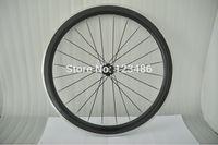 hot sale !OEM painting!Aluminum surface carbon wheelset clincher road bike 50mm wheels+novatec lat spokes+quick releasehub