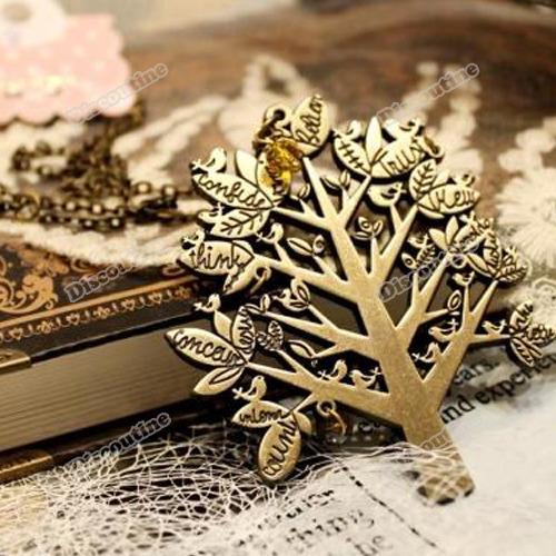 Lewadeal de natal Hot palácio do pássaro do Vintage da árvore cartas cadeia pingente camisola colar(China (Mainland))