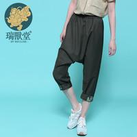 Capris high quality pants ankle length trousers female mustard original design women's
