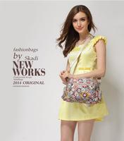 floral pattern women's handbags with removable long shoulder strap 16 colors B66