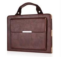 New Arrival Travel Handbag Wallet Design Leather Case Bag For Apple iPad 4 3 2 with Smart Dormancy