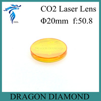 High quality ZnSe (USA imported material ) 20mm dia 50.8 focus length co2 laser lens