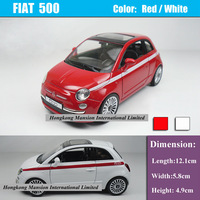 1:36 Scale Alloy Diecast Car Model For Fiat 500 Collection Model Pull Back Car Toys - Red / White