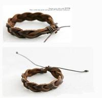 L129 Hot New 2014 Fashion Men Boys Adjustable Hand-woven Bracelets Bangles Jewelry Accessories Wholesale
