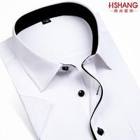 free shipping 2014 summer male short-sleeve shirt white shirt slim easy care business formal men's clothing