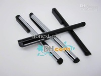 Wholesale - Stylus Touch pen for iphone 3G/3GS 4G ipod touch touch pen for mobile phone black and silver