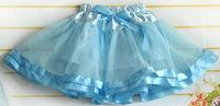 beautiful baby princess skirt girl skirt with ribbons pretty girls ball gown skirt girls pettiskirt tutu bowknot cd22-08