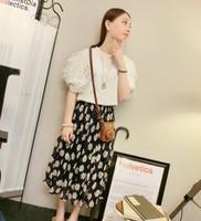 New 2014 Summer Fashion Skirts womens skirt Vintage Sun flowers Print Chiffon Women Skirts Floral Skirts Free Shipping