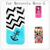 Cartoon Owls TPU Gel Case Cover for Motorola Moto G DVX XT1032 Back Skin cover phone cases bags