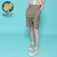 Vegeterians capris high quality pants shorts female musteredmustard original design women's