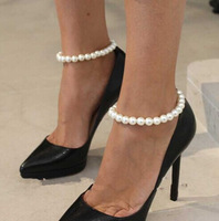 Chunky Pearl Charm Foot Jewelry Ankle Chain Bracelet Anklet Fashion Shoe Accessories