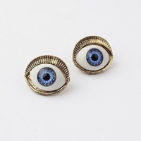 New Fashion punk  E161 2012 new foreign trade Delicate lifelike eyes retro earring for Women men, Vintage  Jewelry!
