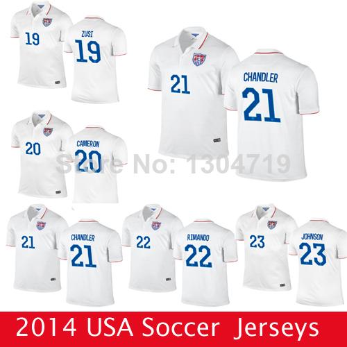 2014 World Cup American Soccer USA Jersey Wholesale Adult DEMPSEY BLANK ALTIDORE CUSTOM Football Kits Uniform Men's Best Quality(China (Mainland))