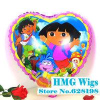 "Balloon Birthday Party Decoration Dora girl balloon  Baby Kids Cartoon Balloons Gift  10pcs/lot  18"""
