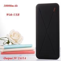 Super Slim Power Bank 10000mah Dual Output 5V 2A/1A Including 1* USB Cable for iphone/samsung/xiaomi/nokia