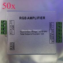 Dhl / FEDEX 50 unids/lote, 12 V / 24 V 12A LED RGB controlador del amplificador amplificador de señal para 3528/5050 SMD RGB LED Strip 9866689(China (Mainland))