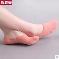 10  female  summer socks women's invisible sock slippers shallow mouth sock dot socks