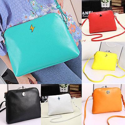 Korean Women Lady Candy Cute Handbag PU Leather Shoulder bag Messenger Hobo free shipping(China (Mainland))