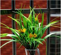 The Orchid Artificial Grass Plant Bellflowers Plastic Leaf Grass Bush Home table hotel Decorations 10pcs