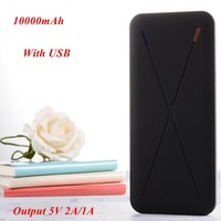 1pc Super Slim Power Bank 10000mah Dual Output 5V 2A/1A Including 1* USB Cable for Samsung for iphone for Smartphone