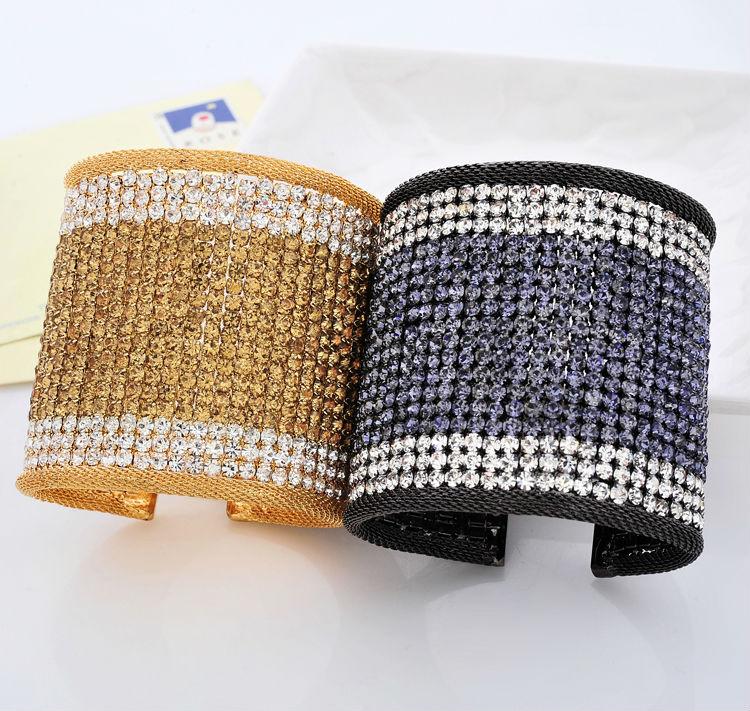 Italy High quality rhinestone oval shape cupchain & strengh brass moveable fashion bracelet or bangle(China (Mainland))