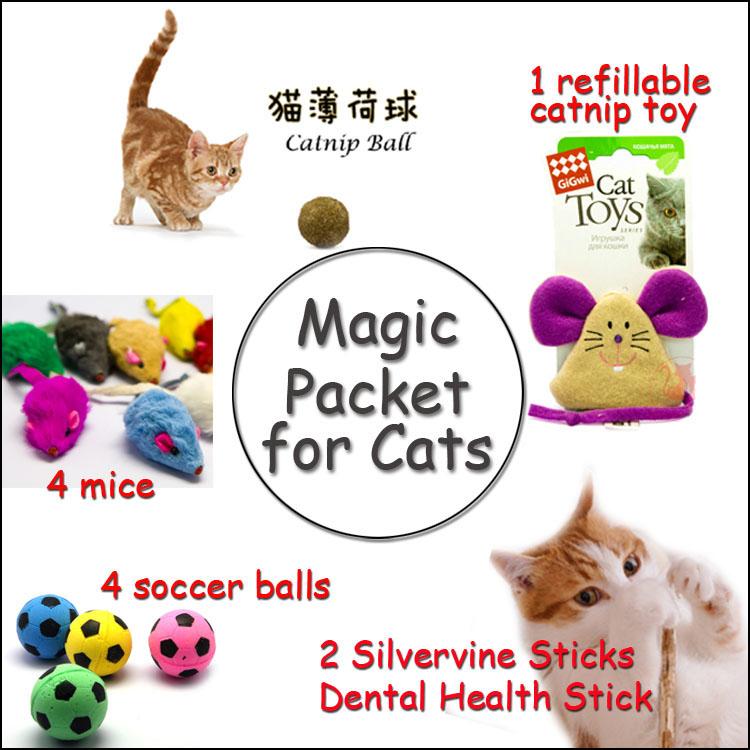 Versandkosten frei magie Paket für Katzen Katzenminze ball spielzeug für katze fell mäuse maus katze Leckereien katzenspielzeug heimtierbedarf