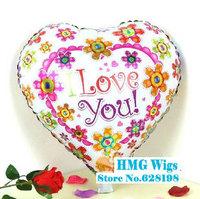 "Balloon Birthday Party Decoration I Love You Flower balloon Kids Cartoon Balloons Gift  10pcs/lot  18"""