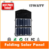 Cheap 13W cloth foldable sunpower solar charger with USB output