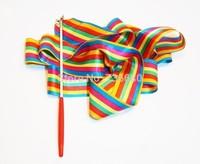 Professional 4 M meters Rhythmic Colorful Gymnastics Ribbons Gym Dance Ribbon Free Shipping