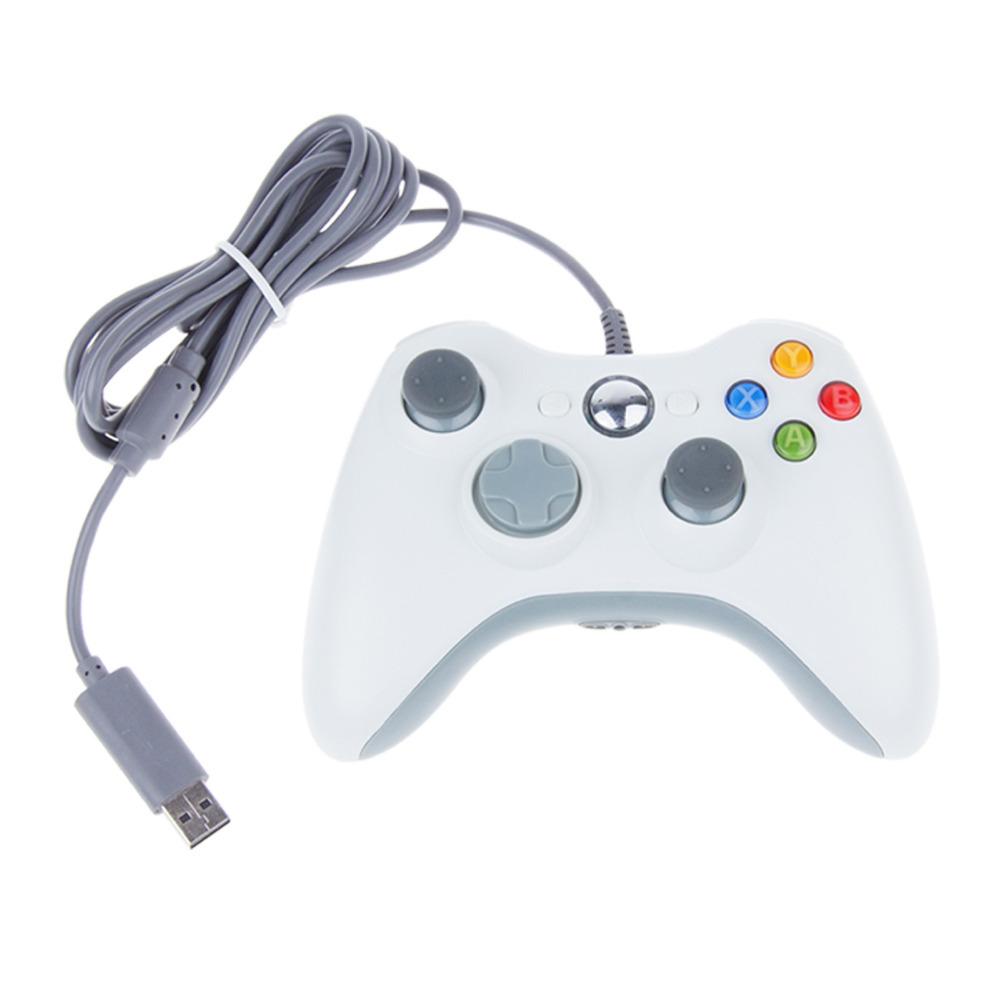 Free Shipping Black White USB Wired Game Controller Gamepad Joypad Joystick For Xbox 360 Slim Accessory PC Computer Windows 7(China (Mainland))