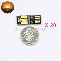2014 New 20pcs Mini LED Night Light Pocket Card Lamp Led Keychain Lamp Portable USB Power+Tracking number+free shipping