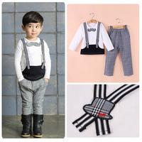 2014 Boys 2 piece Children outerwear Set Outfit Sportswear - Top + Pants 1-6Y