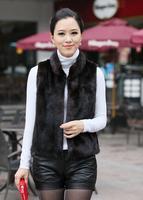 new 2014 free shipping  Artificial fur  Imitated mink fur vest Imitation fur coat