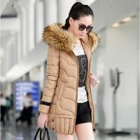 Padded high quality winter coat women outwear 2014 new tide Girls Long winter warm Down coat down jacket vestidos women clothing