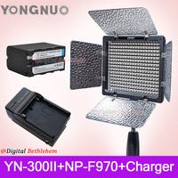 Yongnuo Bi-Color YN300 II YN-300 ll Pro LED Video Light +NP-F970 Battery+Charger ,YONGNUO YN-300 II