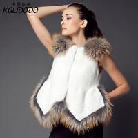 new 2014 free shipping  Artificial fur  Imitation of otter imitation raccoon fur splicing vest  Fur coat