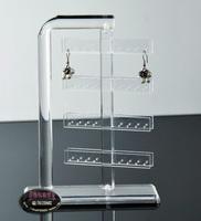 Acrylic jewelry holder earring display holder, earrings display rotating stand earring jewerly display 64 holes
