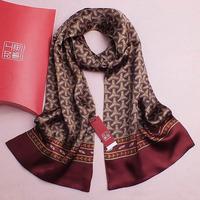 2014 LUXURY MEN'S SCARF100% CHINESE SILK Scarvs 156cm High Quality Silk scarf/shawl/wrap with scarf box Free Shipping