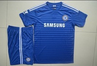 Free shipping Thailand quality 2015 Chelsea Kids kits,New Arrived 2014 Chelsea children football unifroms home blue